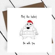 'May the Turkey be with you' Star Wars Greeting Card