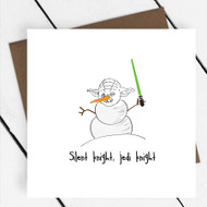 'Silent Knight, Jedi Knight' Star Wars Greeting Card