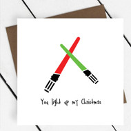 'You light up my Christmas' Star Wars Greeting Card