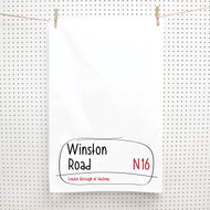 Personalised 'Handwritten Street Tea Towels'