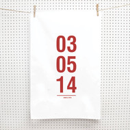Personalised 'Important date' Tea Towels