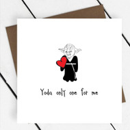 'Yoda only one for me' Star Wars Greeting Card