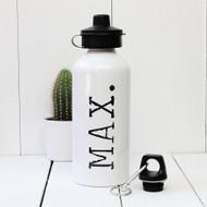Personalised Typewriter 'Name' Water bottle