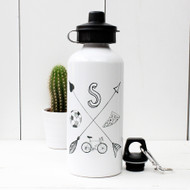 Personalised 'Arrow' Hand Drawn Water bottle