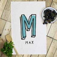 Personalised 'Initial Hand Drawn' Tea Towels