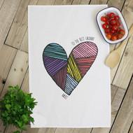 Personalised 'Heart Hand Drawn' Tea Towels