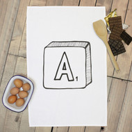 Personalised 'Scrabble Hand Drawn' Tea Towels
