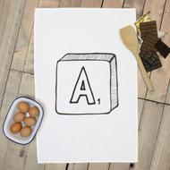 Personalised 'Scrabble Hand Drawn' Tea Towels