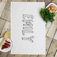 Personalised 'Bubble Name' Tea Towels