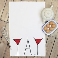'Wine Yay' Tea Towels