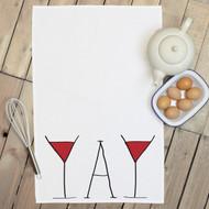 'Wine Yay' Tea Towels