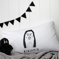 Personalised 'Penguin' Pillow Case
