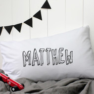 Personalised 'Bubble' Pillow Case