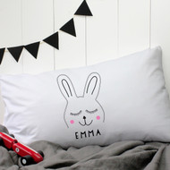 Personalised 'Rabbit' Pillow Case