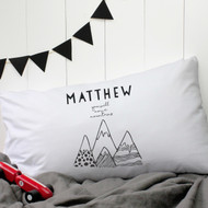 Personalised 'You Will Move Mountains' Pillow Case