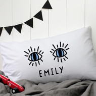 Personalised 'Eyes'  Pillow Case