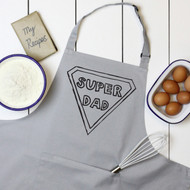 Personalised 'Superman Super dad' Apron