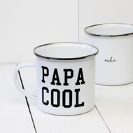 Personalised 'Papa Cool' enamel mug