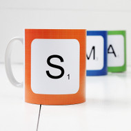 Personalised 'Scrabble Letter' mug
