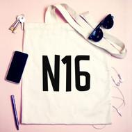 Personalised  'Postcode' Tote Bag