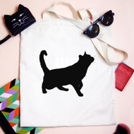Personalised 'Cat Sillhouette' Bag