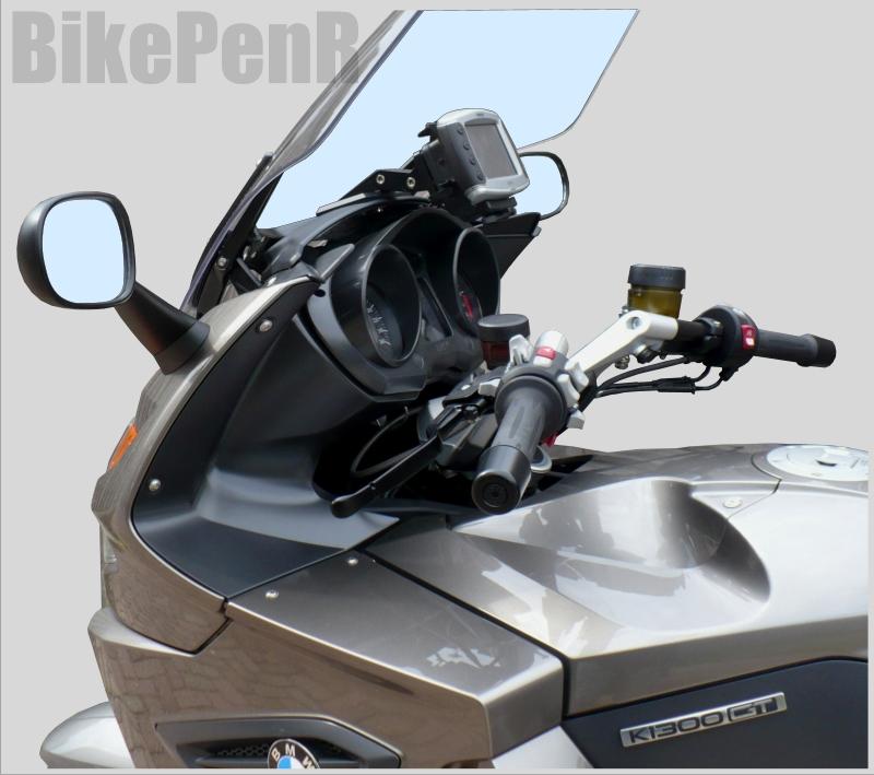 motorcycle mounts custom gps mounts bmw k1200 gt k1300 gt my 2006 2011. Black Bedroom Furniture Sets. Home Design Ideas