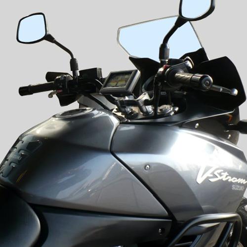 motorcycle mounts custom gps mounts suzuki dl 1000 v. Black Bedroom Furniture Sets. Home Design Ideas