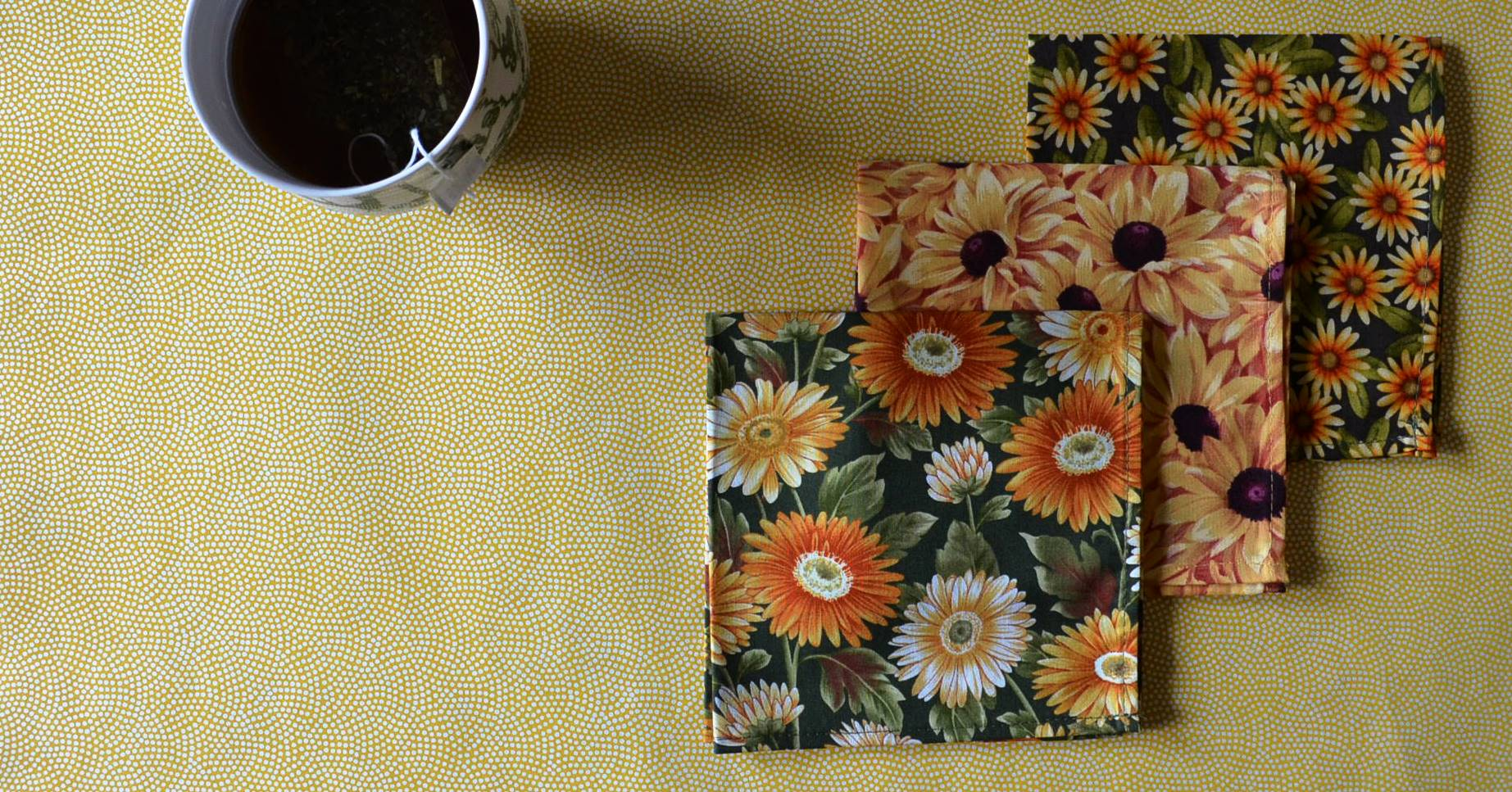 Floral handkerchiefs for Fall
