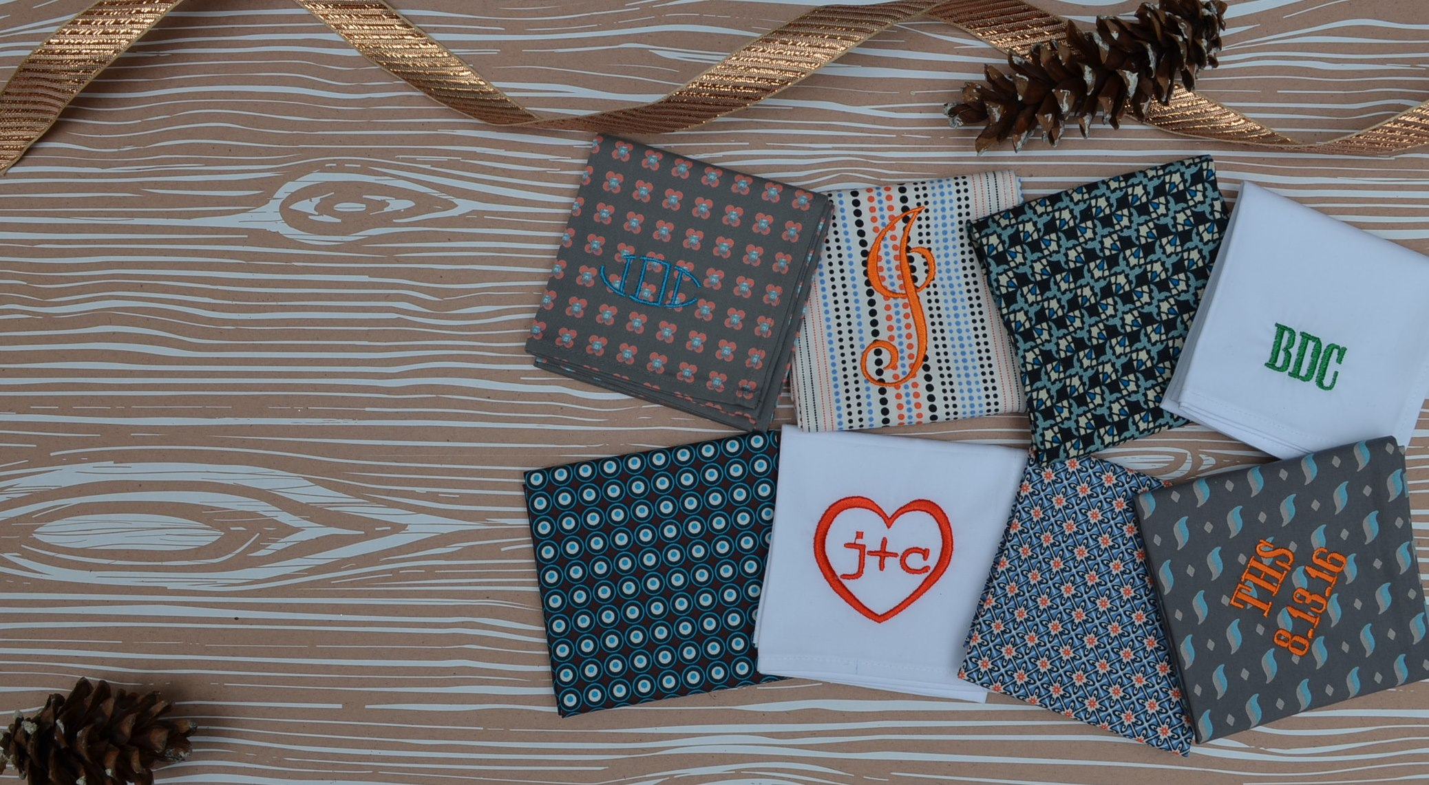 Monogrammed and Personalized Handkerchiefs