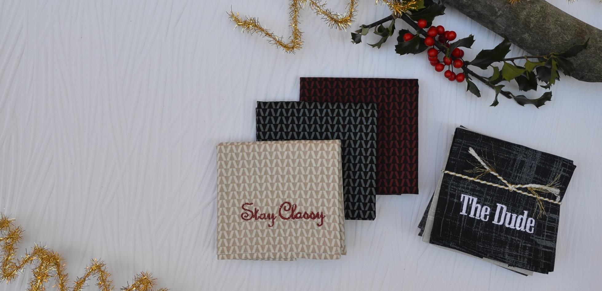 Personalized Men's Handkerchief Gifts