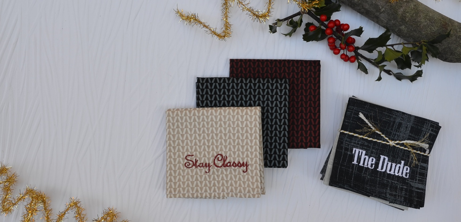 Personalized Men's Handkerchief Gifts