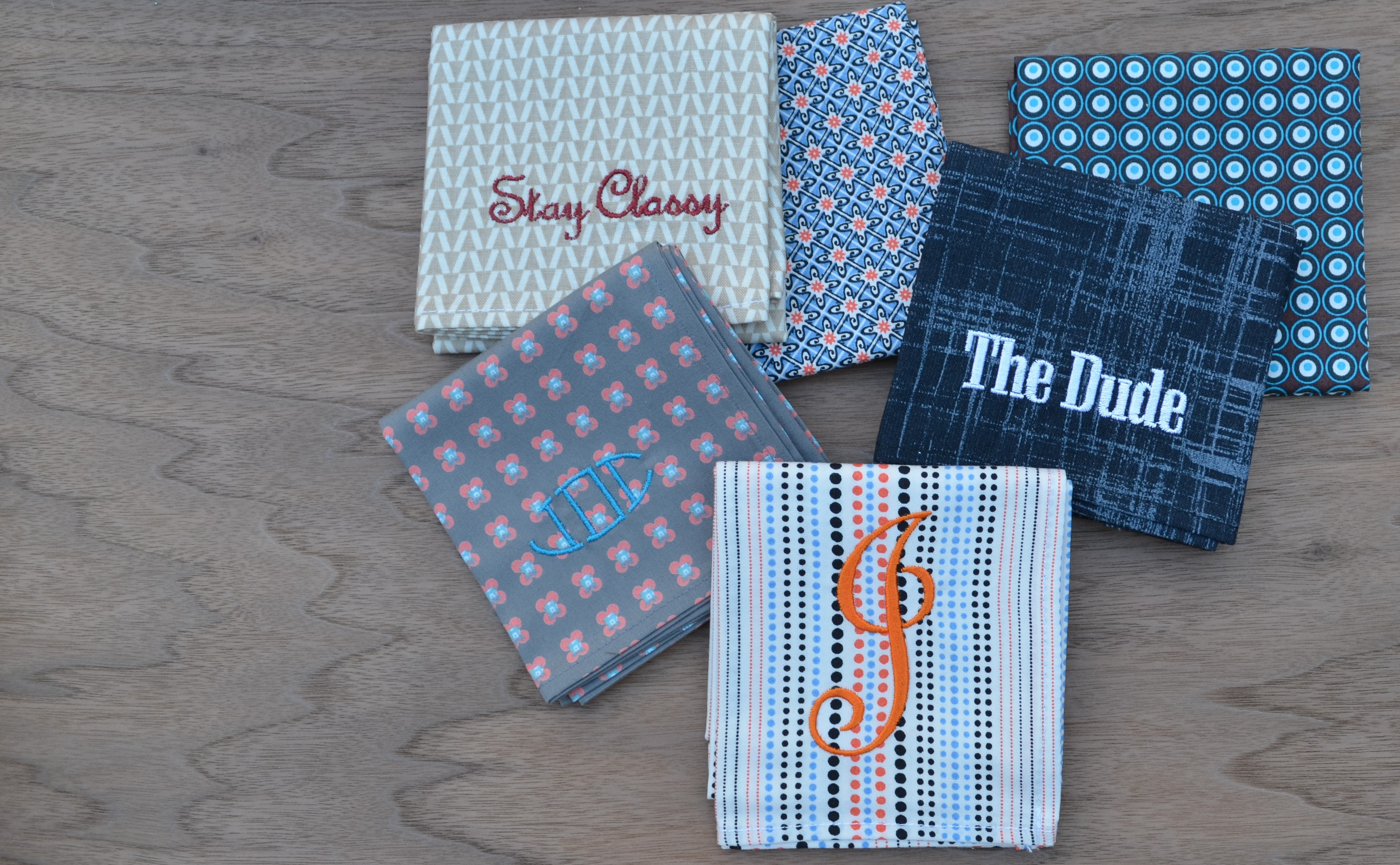 Monogrammed Handkerchiefs for Men