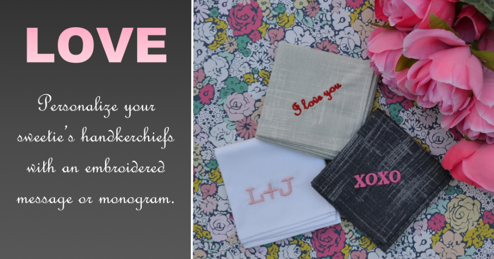 Personalized Embroidered Handkerchiefs for men