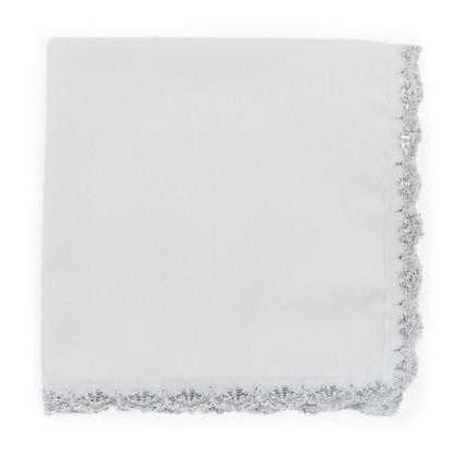 Silver Lace Handkerchief