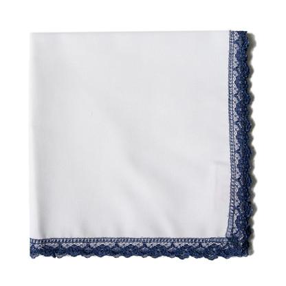 Navy Lace handkerchief
