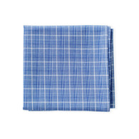 Plaid Sky Blue Hank for men