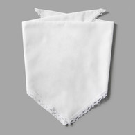 White Lace Pet-kerchief Bandana