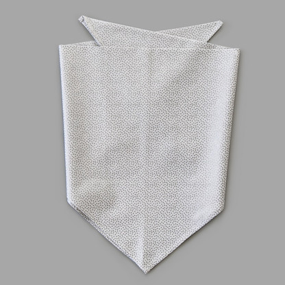 Silver Dot Pet-kerchief Bandana