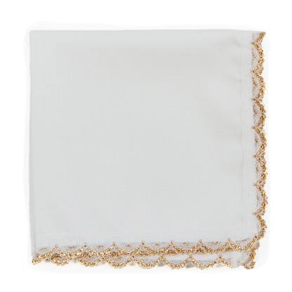 Gold Lace wedding handkerchief