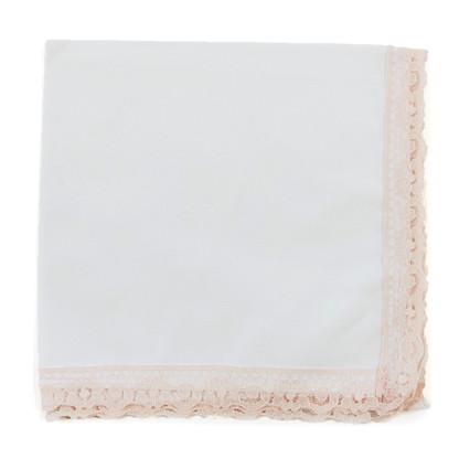 Blushing Bride wedding handkerchief