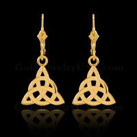 Gold Celtic Trinity Earrings