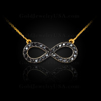 Black diamond infinity necklace