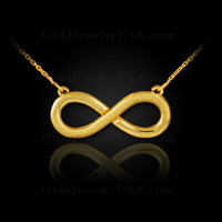 Matte finish gold infinity necklace
