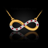 Yellow gold with rubies.