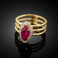 July (ruby red) Birthstone ring