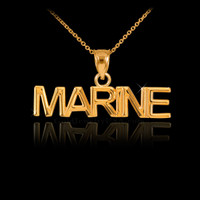 Gold MARINE Pendant Necklace