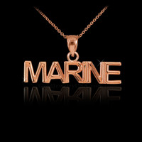 Rose Gold MARINE Pendant Necklace
