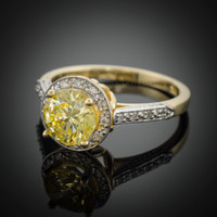 14K Citrine engagement ring.