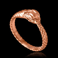 Rose Gold Ouroboros ladies ring.