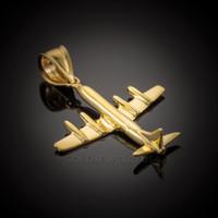Gold 3D Airplane Pendant